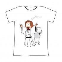 """T-shirt bianca L Jenus """"Rock"""""""