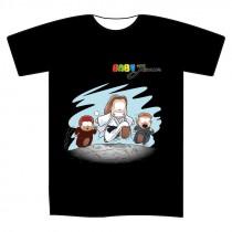 "T-shirt nera L ""Baby Jenus"""