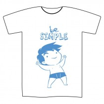 "T-shirt ""Be Simple"" uomo L"