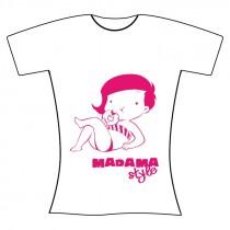 """T-shirt """"Madama Style"""" donna S"""