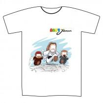 "T-shirt bianca L ""Baby Jenus"""